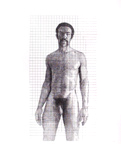 Standing Male Nude on Grid Paper